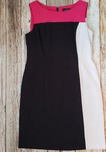 Tahari Levine Color Block Dress Size 12